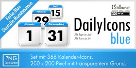 Kalender-Icons | Stilkunst Icon-Set DailyIcons blue