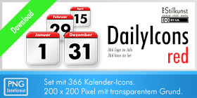 Titelbild Download DailyIcons red