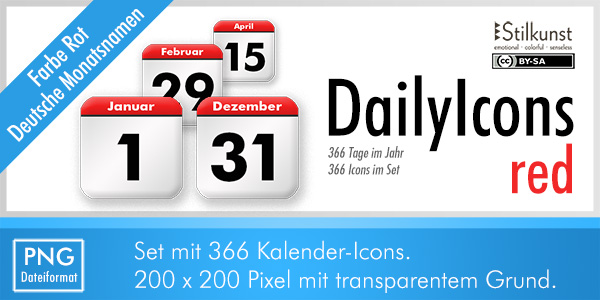 Titelbild DailyIcons red | Title DailyIcons red